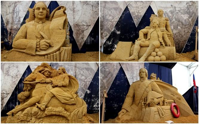 Выставка песчаных фигур