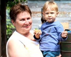 Митина Ольга Васильевна с внуком