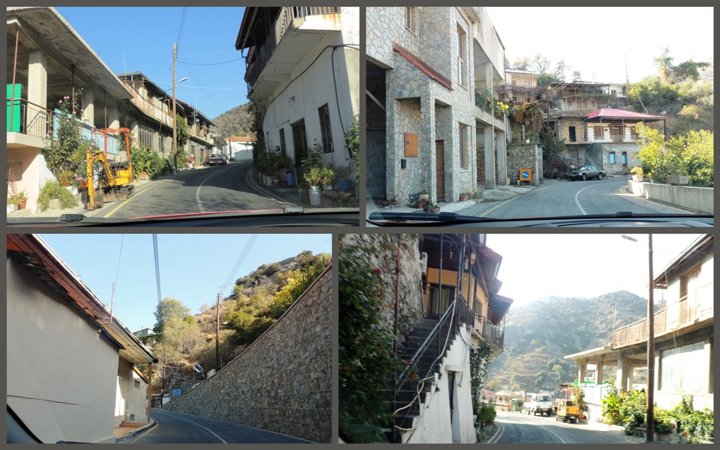 улицы горной деревни, Кипр