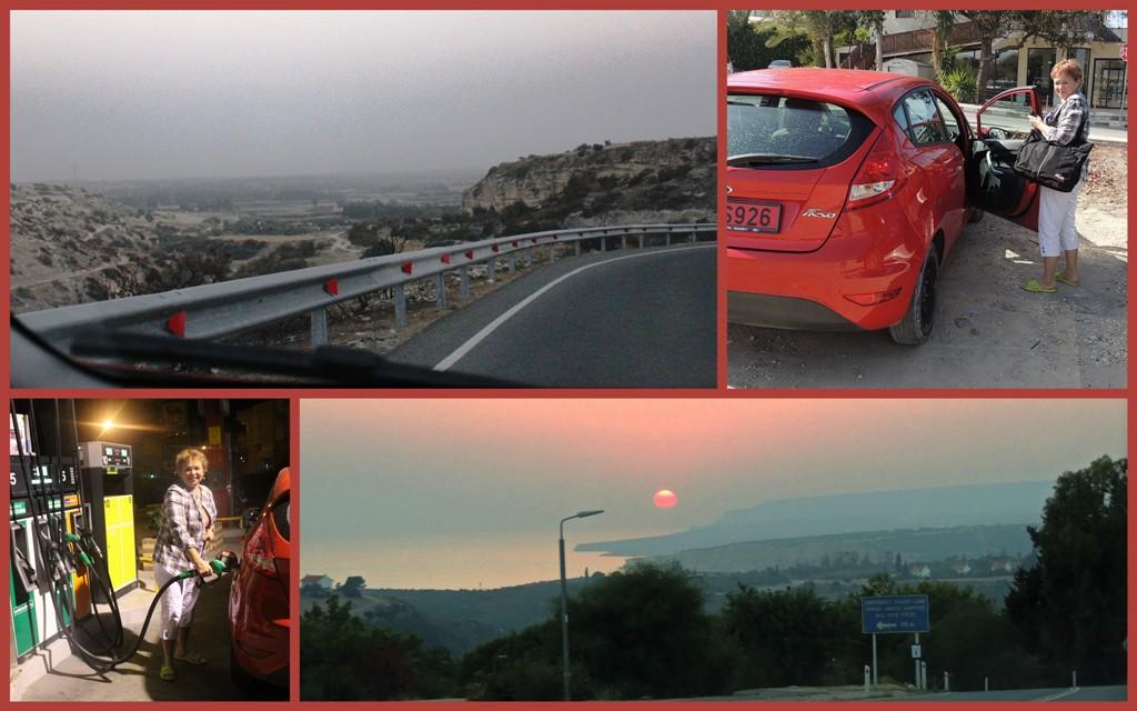на машине по Кипру