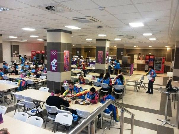столовая для волонтеров в Сочи